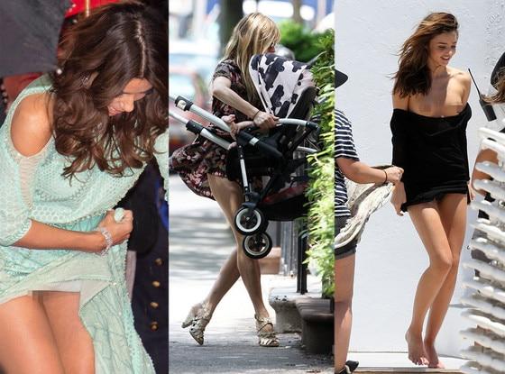 Eva Longoria, Sienna Miller, Miranda Kerr, Wardrobe Malfunction