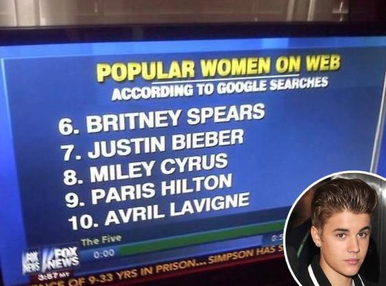 Justin Bieber, Fox News