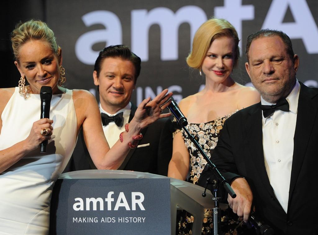 Sharon Stone, Jeremy Renner, Nicole Kidman, Harvey Weinstein, amfAR