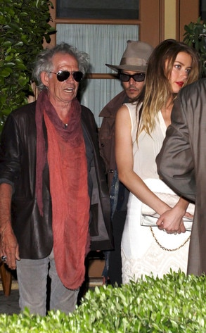 Keith Richards, Johnny Depp, Amber Heard