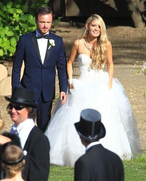 Aaron Paul, Lauren Parsekian, Wedding