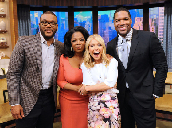 Tyler Perry, Oprah Winfrey, Kelly Ripa, Michael Strahan, LIVE with Kelly and Michael