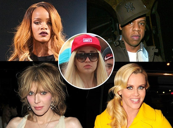 Rihanna, Amanda Bynes, Jay-Z, Jenny McCarthy, Courtney Love