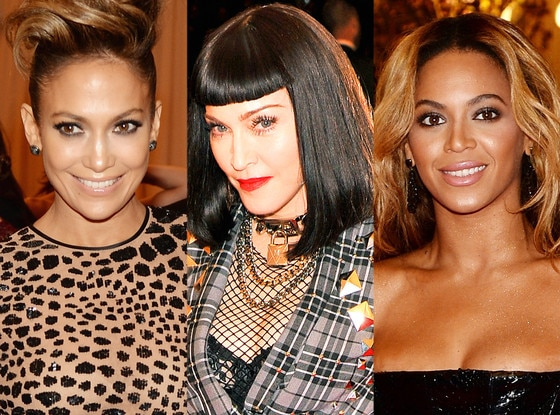 Beyonce, Jennifer Lopez, Madonna