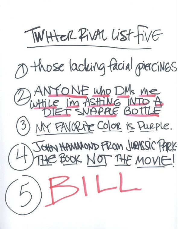 Bynes Bill List