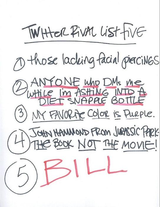 Bynes Bill List