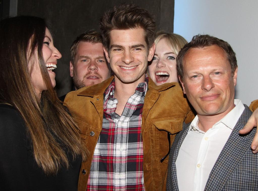 Andrew Garfield, Emma Stone, Photobomb