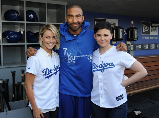 Ginnifer Goodwin, Matt Kemp, Julianne Hough, Dodgers