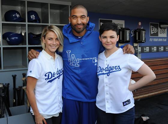 Ginnifer Goodwin, Matt Kemp, Julianne Hough, Dodgers