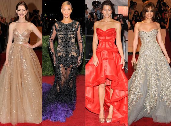 MET Gala, Best Looks, Anne Hathaway, Beyonce, Jessica Biel, Jennifer Lopez