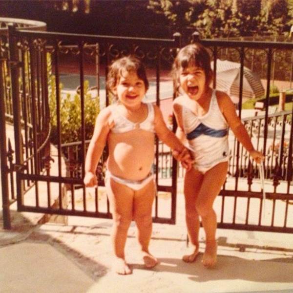 Kourtney Kardashian, Kim Kardashian, Instagram, Throwback Thursday