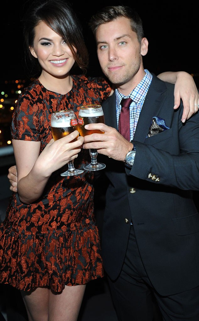 Lance Bass, Chrissy Teigren, Kentucky Derby Party