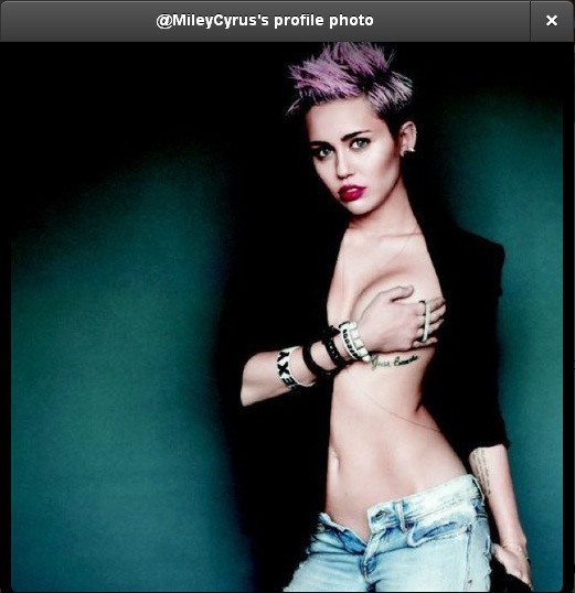 Miley Profile pic