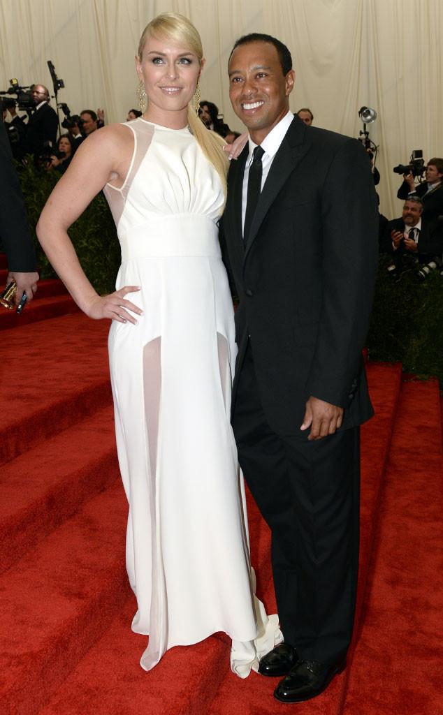 Lindsey Vonn, Tiger Woods, MET Gala