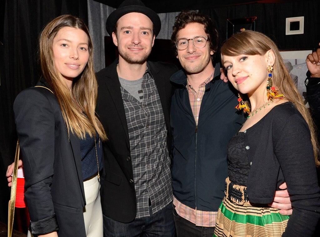 Justin Timberlake, Jessica Biel, Andy Samberg, Joanna Newson