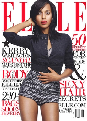 Kerry Washington, Elle Magazine
