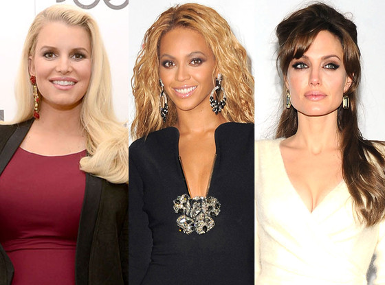 Jessica Simpson, Beyonce, Angelina Jolie