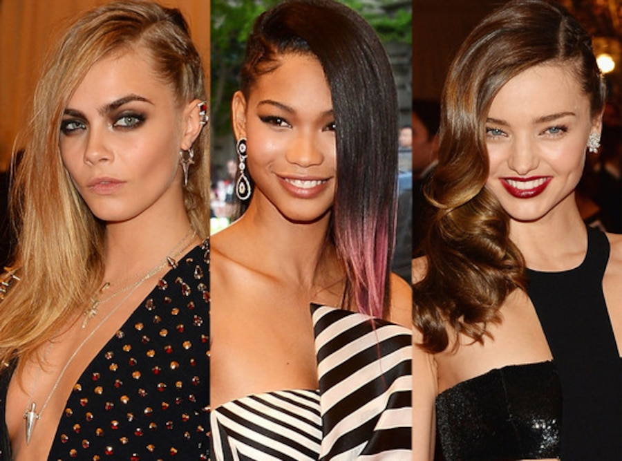 Cara Delevingne, Chanel Iman, Miranda Kerr, MET Gala