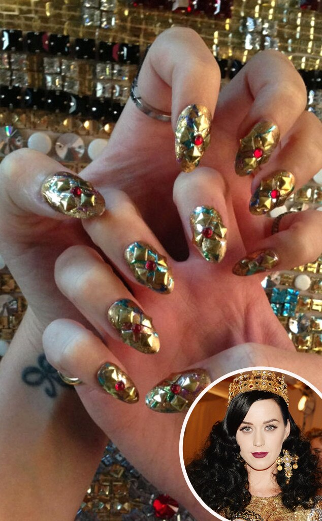 Katy Perry, MET Gala, Nails