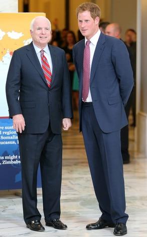 John McCain, Prince Harry