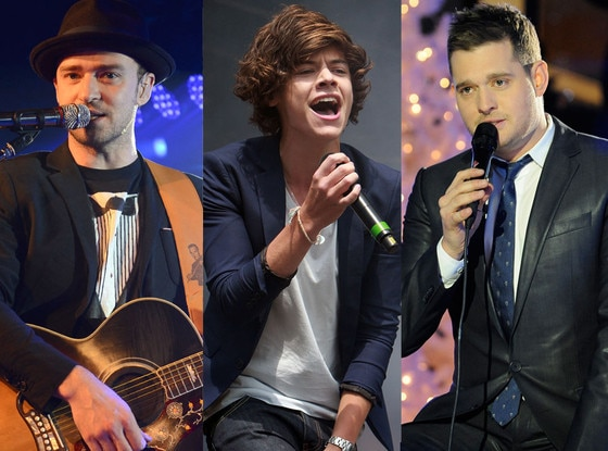 Justin Timberlake, Michael Buble, Harry Styles