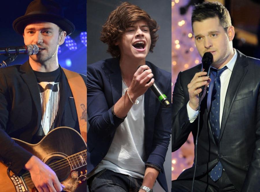 Justin Timberlake, Michael Buble, Harry Styles