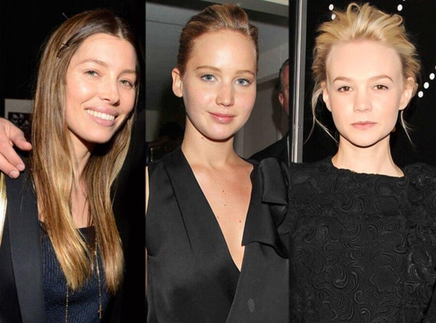 Minimal Makeup Beauty Trend: Jessica Biel, Jennifer Lawrence, Carey Mulligan