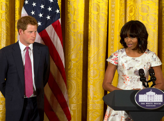 First lady Michelle Obama, Prince Harry
