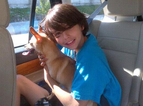 Mason Cibrian, Dog, Brandi Glanville Twit Pic