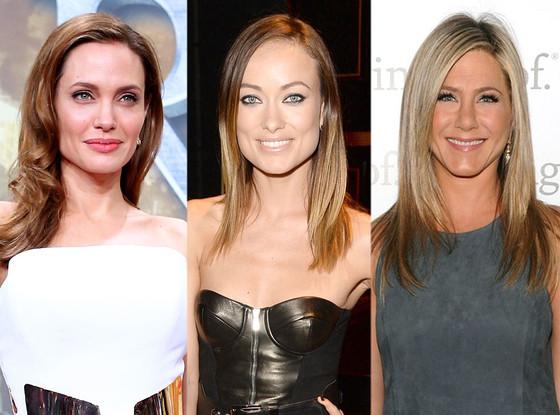 Angelina Jolie, Olivia Wilde, Jennifer Aniston