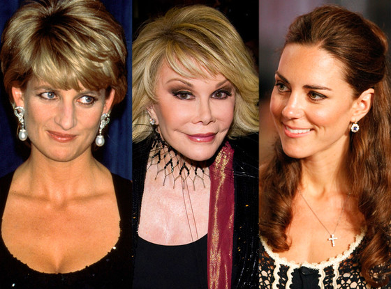 Princess Diana, Joan Rivers, Kate Middleton, Duches Catherine