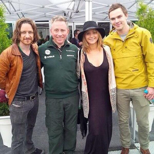 James McAvoy, Jennifer Lawrence, Nicholas Hoult