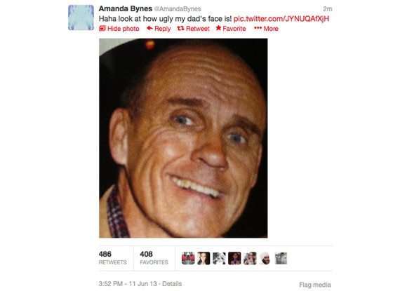 Amanda Bynes, Dad, Twit Pic