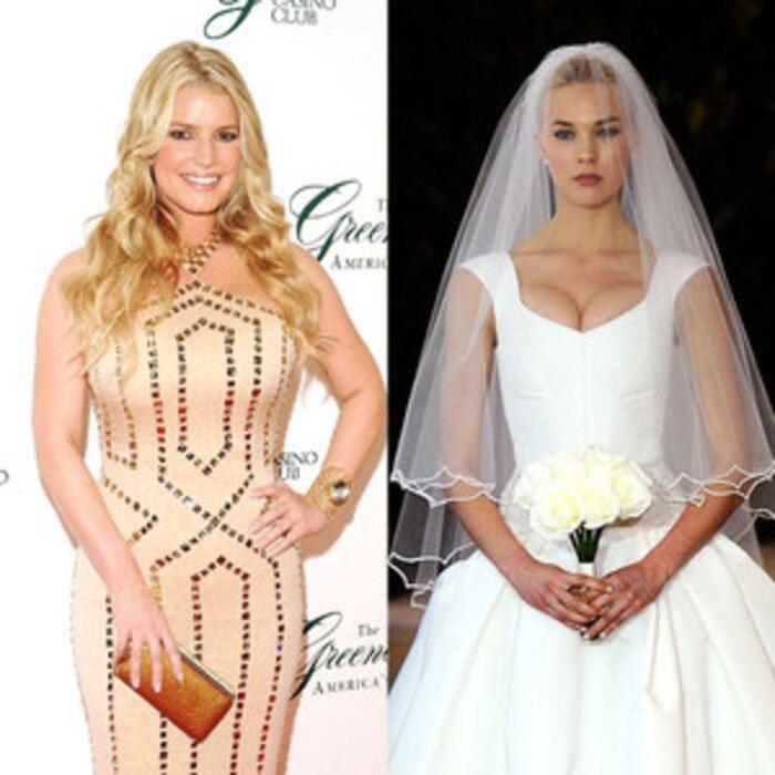 Celeb Wedding Dresses, Jessica Simpson