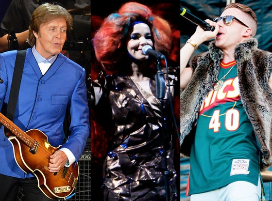 Paul McCartney, Bjork, Mackelmore