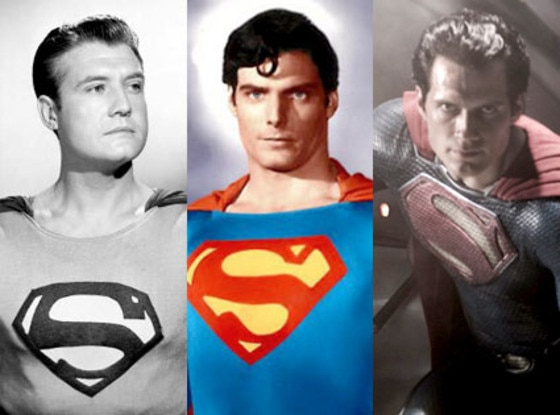 George Reeves, Christopher Reeve, Henry Cavill, Superman