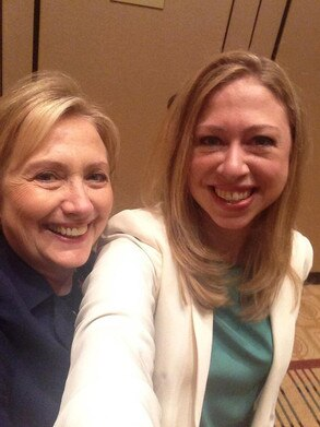 Hillary Clinton, Chelsea Clinton, Twit Pic