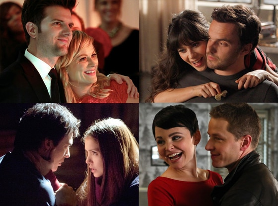 TV Couples, Parks & Rec, New Girl, Vampire Diaries, Once Upon a Time