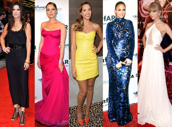 Sandra Bullock, Uma Thurman, Jessica Alba, Jennifer Lopez, Taylro Swift