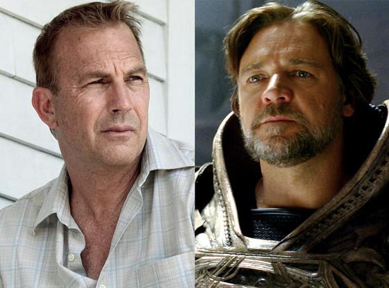 Kevin Costner, Russell Crowe, Man of Steel