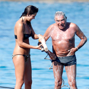 Roberto Cavalli 72 Wears Tiny Swimsuit Gets Hosed Down By Model Girlfriend On His Yacht E News