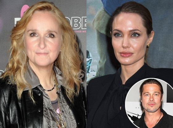 Melissa Etheridge, Angelina Jolie, Brad Pitt