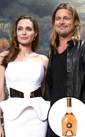 Celebrity Alcohol, Brad Pitt, Angelina Jolie