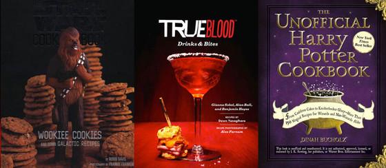 True Blood Drinks & Bites, Star Wars, Harry Potter Cookbook