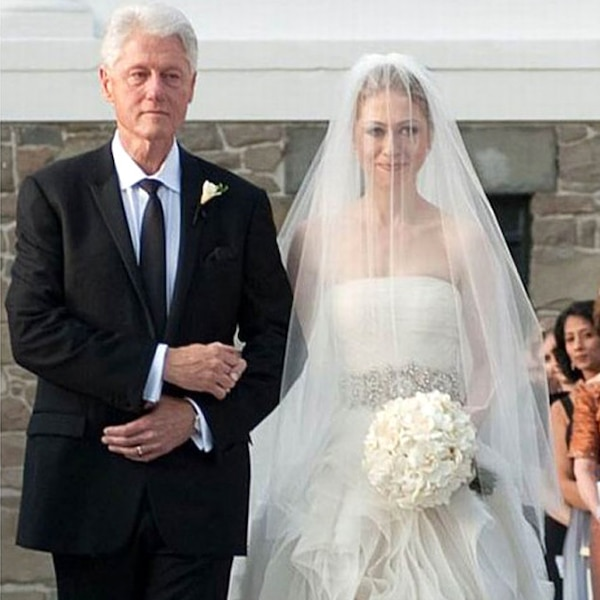 Chelsea Clinton Wedding Gown: Chelsea Clinton From Famous Brides In Vera Wang Wedding