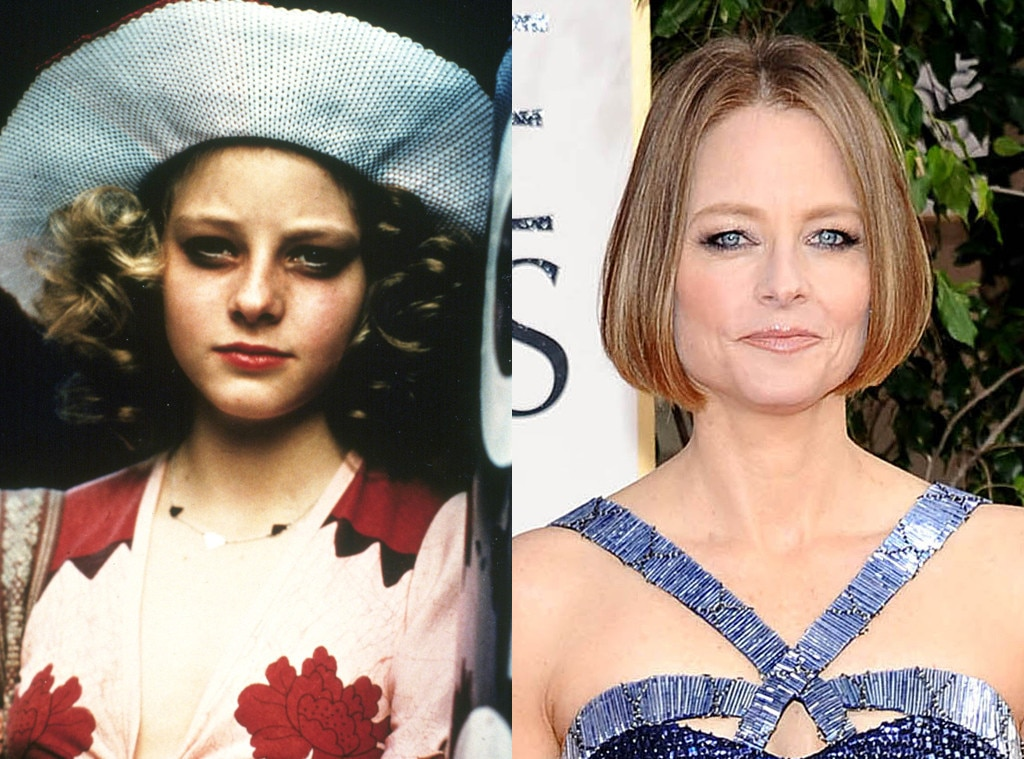 Jodie Foster, Then and now
