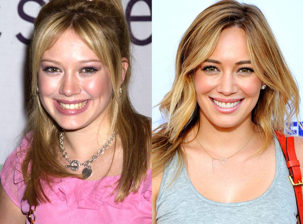 Hilary Duff, Then and now