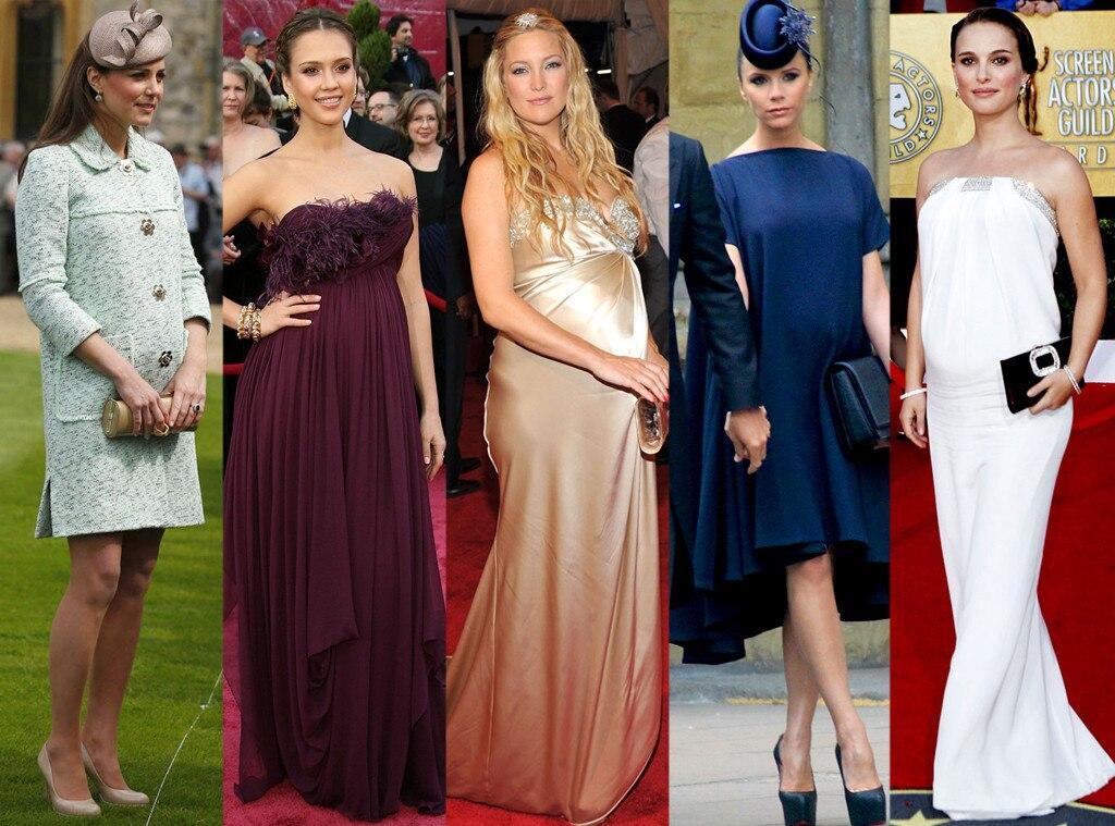 Kate Middleton, Jessica Alba, Kate Hudson, Victoria Beckham, Natalie Portman