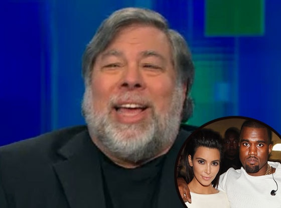 Steve Wozniak, Kim Kardasian, Kanye West