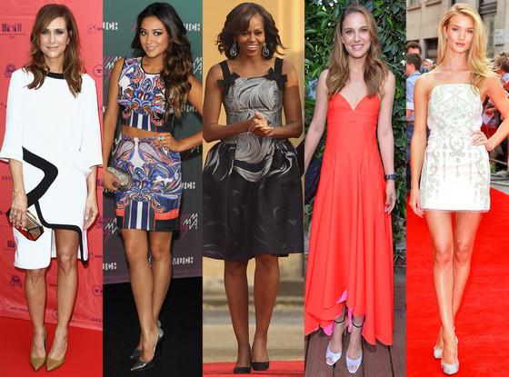 Kristen Wiig, Shay Mitchell, Michelle Obama, Natalie Portman, Rosie Huntington-Whiteley